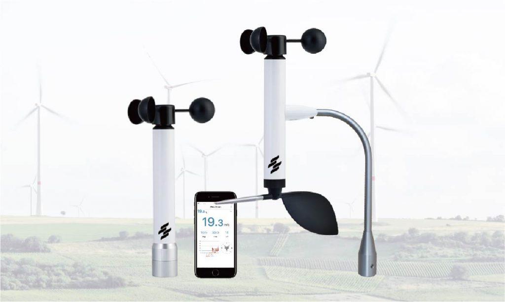 WirelessBluetooth4.0technology,Rangeupto100m,Realtimespeedandtemperaturegraph,Graphical andsoundalarms,soundalarmatexceededwindspeed