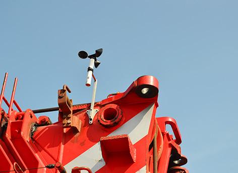 WR3 Plus Sensor on Crane