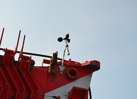 Wireless Anemometer Installation on Crane